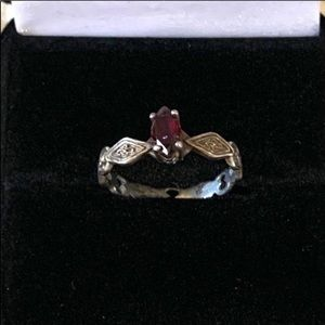 STERLING RUBY RING 8